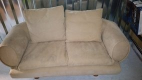 Suede Leather Love Seat in Macon, Georgia