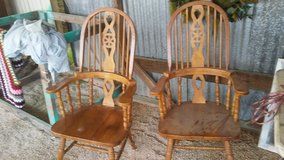Antique Pair of Wood Captains Chairs in Leesville, Louisiana