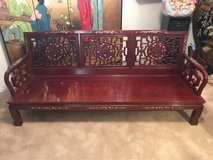 Oriental antique sofa and side chairs, no cushions in The Woodlands, Texas