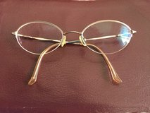 Gold Frames for glasses by Kenmark, Hush Puppies  (Clip on Sunglasses for additional $5) in Lockport, Illinois