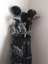Golf clubs,shoes,cairring case,balls,and all you need in Travis AFB, California
