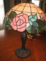 tiffany leaded glass lamp with roses in Plainfield, Illinois