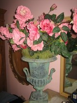 vintage verde green iron urn with handles in Plainfield, Illinois