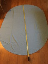 """80"""" Blue Oval Cloth Tablecloth in Plainfield, Illinois"""