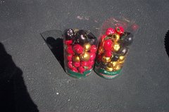 TWO CONTAINERS OF APPLE ORNAMENTS in Plainfield, Illinois