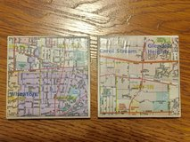 2 Beverage Coasters.  One of Wheaton & the other Carol Stream / Glendale Hts. in Plainfield, Illinois