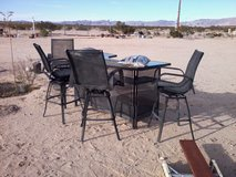Patio Bar Table & 4 Swivel Chairs in 29 Palms, California