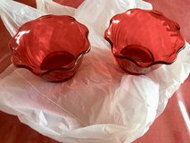 Set of 2 Red plastic pudding cups in Naperville, Illinois