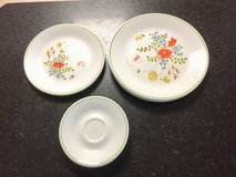 Corelle by Corning, Wildflower pattern Replacement Dinner, Lunch, and Saucer plates in Naperville, Illinois