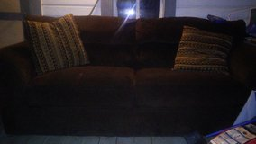 Full size chocolate Brown couch in Fort Rucker, Alabama