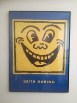Keith Haring Galery Silk Printed Picture early 90`s in Spangdahlem, Germany