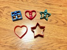 Various Cookie Cutters or for Play Doh (Set of 5) in Naperville, Illinois