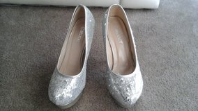 Silver beaded shoes in Elgin, Illinois
