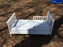 White Toddler bed w/ mattress in Macon, Georgia