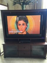 """*** 50"""" SANYO FLAT SCREEN SMART TV with SOLID WOOD ENTERTAINMENT CENTER *** in Fort Lewis, Washington"""