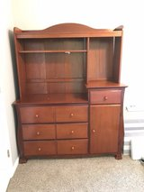 Solid Wood Hutch/Changing Table For Nursery in Spring, Texas