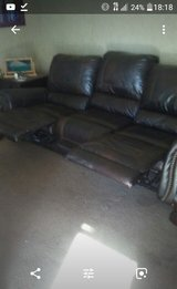 Leather living room set in Leesville, Louisiana