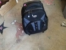Rolling back pack in Yucca Valley, California