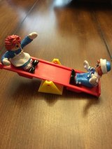 Vintage McDonalds Raggedy Ann and Andy on see saw in Houston, Texas