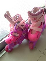 Princess Girl's rollerblades with pads in Okinawa, Japan