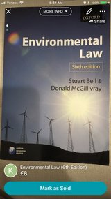 Environmental Law (6th edition) in Lakenheath, UK