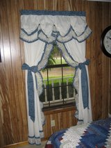 Country Blue Calico Curtains in Leesville, Louisiana