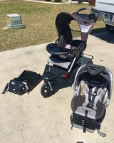 Jogging stroller, car seat and extra base in Moody AFB, Georgia