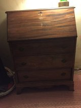 Antique drop-leaf writing table in Kingwood, Texas