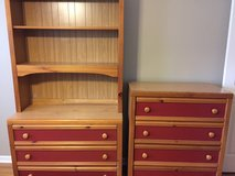 Youth dresser w/ hutch & chest of drawers in Naperville, Illinois