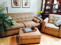 Havertys Couch ($300) + Chair & Ottoman ($100) ~ Excellent Condition! in Wilmington, North Carolina