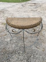 Wicker half table in Conroe, Texas