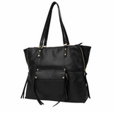 "Kooba Genuine Leather Tote, Black, 11"" Strap Hand Bag Zipper Purse in Joliet, Illinois"