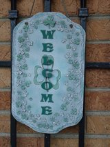 shamrock welcome plaque in Naperville, Illinois