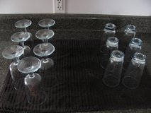13 VINTAGE BLUE TINT DRINKING GLASSES FROM 1960S in DeKalb, Illinois