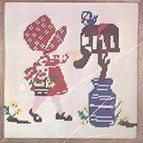 """Naturally Needlepoint Kit BIG BONNET GIRL #6514 10"""" X 10"""" Pillow or Picture 1975 in St. Charles, Illinois"""
