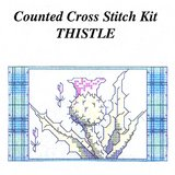 VTG THISTLE CELTIC CROSS STITCH KIT, 5x3, Camus Internat in Oswego, Illinois
