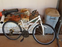 Road Master silver bike, mt. Fury in Yucca Valley, California