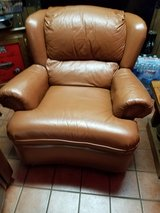 Brown leather chair in Schaumburg, Illinois