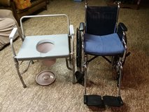 Wheelchair & commode in Plainfield, Illinois
