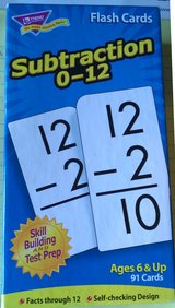 Subtraction Flash Cards facts 0-12, ages 6 and up in Oswego, Illinois