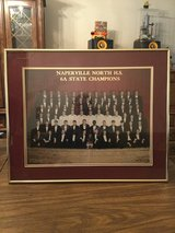 Naperville North 6A state high school football framed photo 1992-1993 in Naperville, Illinois
