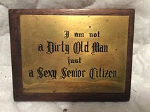 Vintage: Brass Quote Plaque in Macon, Georgia