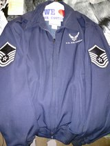 Light weight blues jacket MSGT stripes in Alamogordo, New Mexico