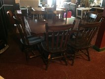 Solid Wood Farmhouse Table W/ Double Pedestal and 6 Chairs in Fort Polk, Louisiana
