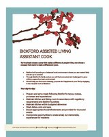 Assistant Cook- Bickford Assisted Living Oswego in Plainfield, Illinois