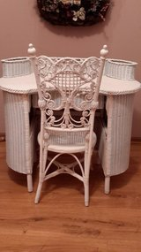 VICTORIAN WICKER DESK AND CHAIR in St. Charles, Illinois