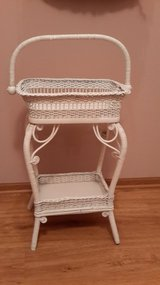 VICTORIAN WICKER SEWING BASKET STAND in St. Charles, Illinois