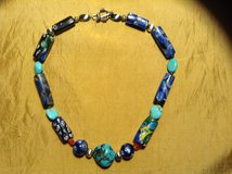 Venetian glass bead necklace sterling beads and toggle clasp in Yucca Valley, California