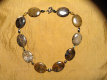 Genuine Agate necklace with Sterling beads and sterling silver toggle clasp in Yucca Valley, California
