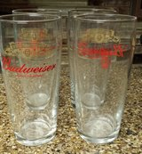REDUCED Budwiser Pub glasses England in 29 Palms, California